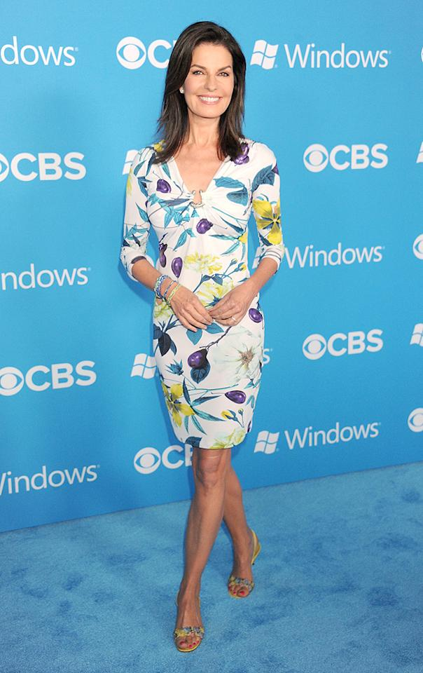 """And last but not least we have former """"Sisters"""" and """"Once and Again"""" star Sela Ward, who continued to defy her age (56!) on Tuesday evening at CBS' Fall TV premiere party in this charming cocktail dress and bejeweled sandals. Love this classy lady! (9/18/2012)<br><br><a target=""""_blank"""" href=""""http://tv.yahoo.com/emmys/"""">Yahoo! TV's coverage of the 64th Primetime Emmy Awards</a>"""