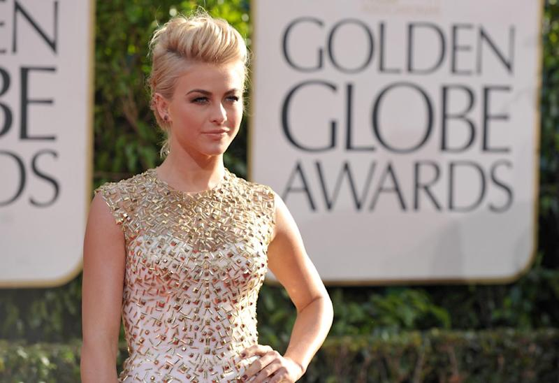 Julianne Hough arrives at the 70th Annual Golden Globe Awards at the Beverly Hilton Hotel on Sunday Jan. 13, 2013, in Beverly Hills, Calif. (Photo by John Shearer/Invision/AP)