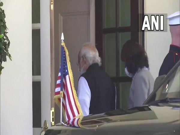 Prime Minister Narendra Modi arrived at the White House for a bilateral meeting