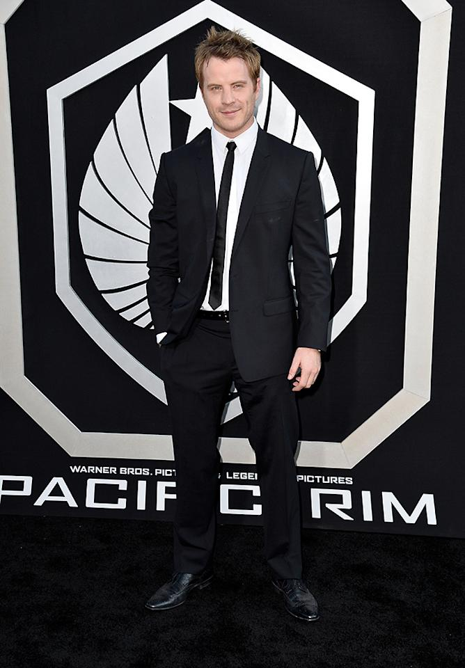 "HOLLYWOOD, CA - JULY 09:  Actor Robert Kazinsky arrives at the premiere of Warner Bros. Pictures' and Legendary Pictures' ""Pacific Rim"" at Dolby Theatre on July 9, 2013 in Hollywood, California.  (Photo by Frazer Harrison/Getty Images)"