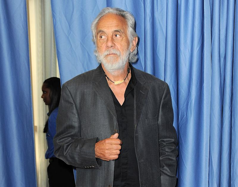 FILE - This April 18, 2013 file photo shows Tommy Chong at the Rock and Roll Hall of Fame Induction Ceremony at the Nokia Theatre in Los Angeles. The 74-year-old comedian thinks legalizing marijuana on a federal level would offer numerous benefits, including a boost to the U.S. economy if it were taxed. (Photo by Jordan Strauss/Invision/AP)