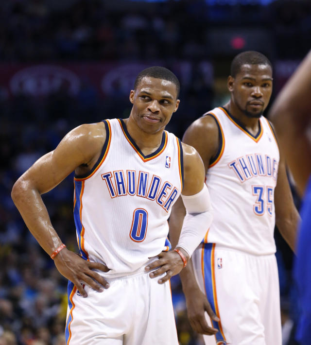 <p>Durant and Westbrook quickly became one of the best tandems in the NBA after the two were drafted in back-to-back seasons by Sonics (now the Thunder). They led the Thunder to a sustained run of success and advanced as far as the NBA Finals in 2012, losing to the Miami Heat. But Durant made the highly criticized decision to leave Oklahoma City during 2016 free agency for the greener pastures of the Golden State Warriors. There was noticeable tension between Durant and Westbrook when the two teams played this past season. </p>