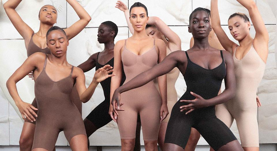 Kim Kardashian's shapewear brand Skims has launched in Selfridges. (Getty Images)