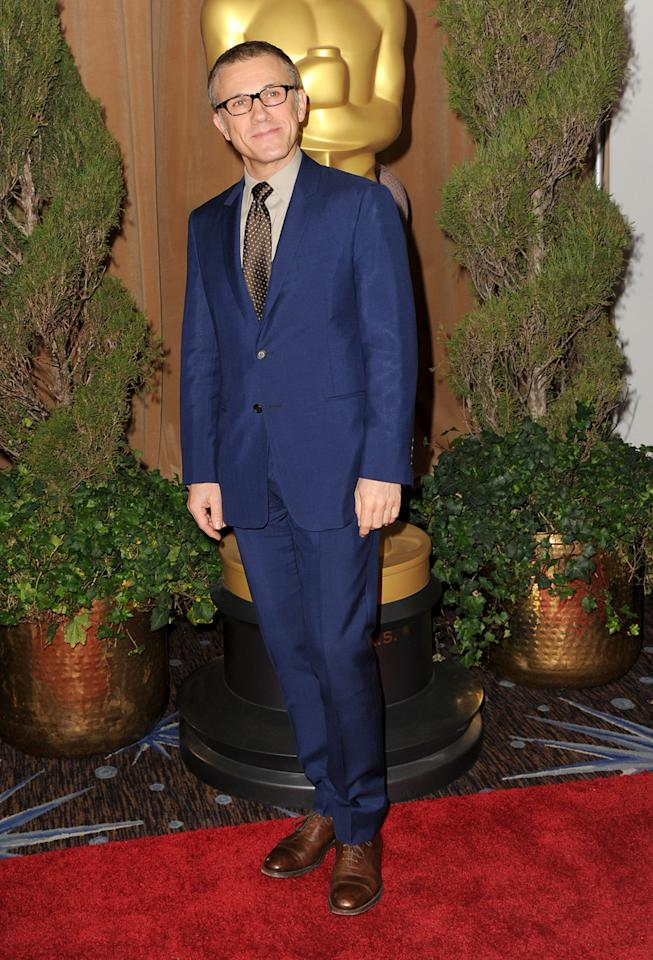 Christoph Waltz attends the 85th Academy Awards Nominations Luncheon at The Beverly Hilton Hotel on February 4, 2013 in Beverly Hills, California.  (Photo by Kevin Winter/Getty Images)
