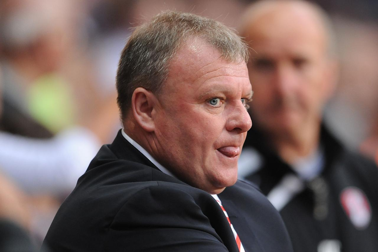 Rotherham United manager Steve Evans before the Capital One Cup, Second Round match at Villa Park, Birmingham.