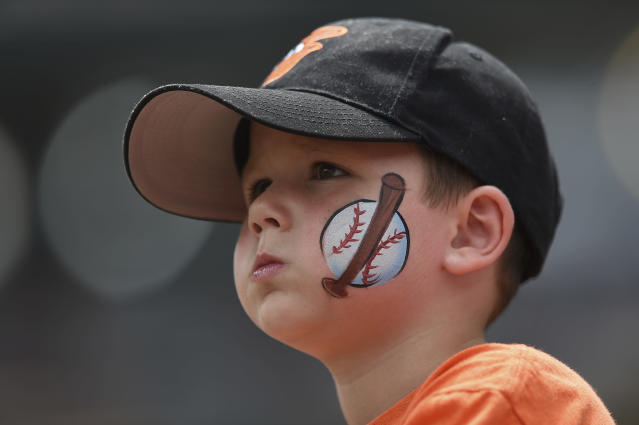 The Orioles have introduced a new program that allows kids 9 and younger to sit in the upper deck for free when an adult purchases a regularly priced upper deck ticket. (AP Photo)