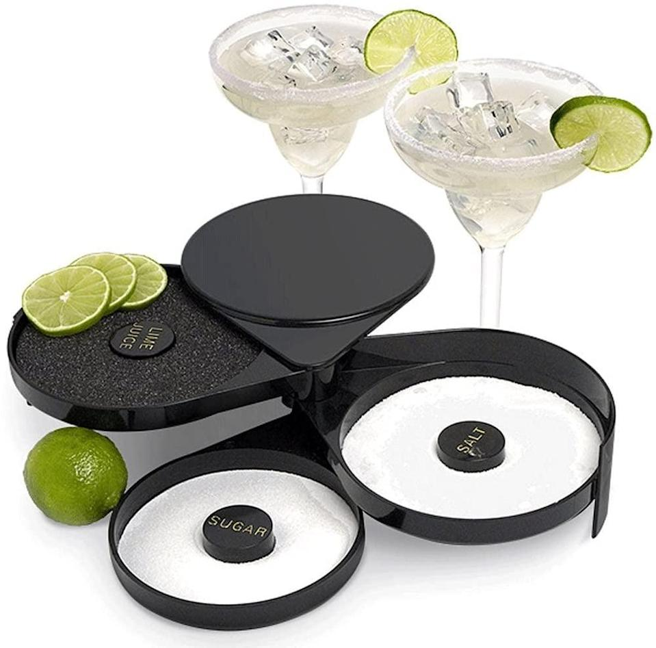 <p>If you love a good salt or sugar rim, you'll love using this <span>Greenco 3 Tier Glass Salt &amp; Sugar Rimmer</span> ($15). All you have to do is dip the rim of your glass in the sponge that is soaked with water or lime juice. Then dip the primed glass in either the salt or sugar.</p>