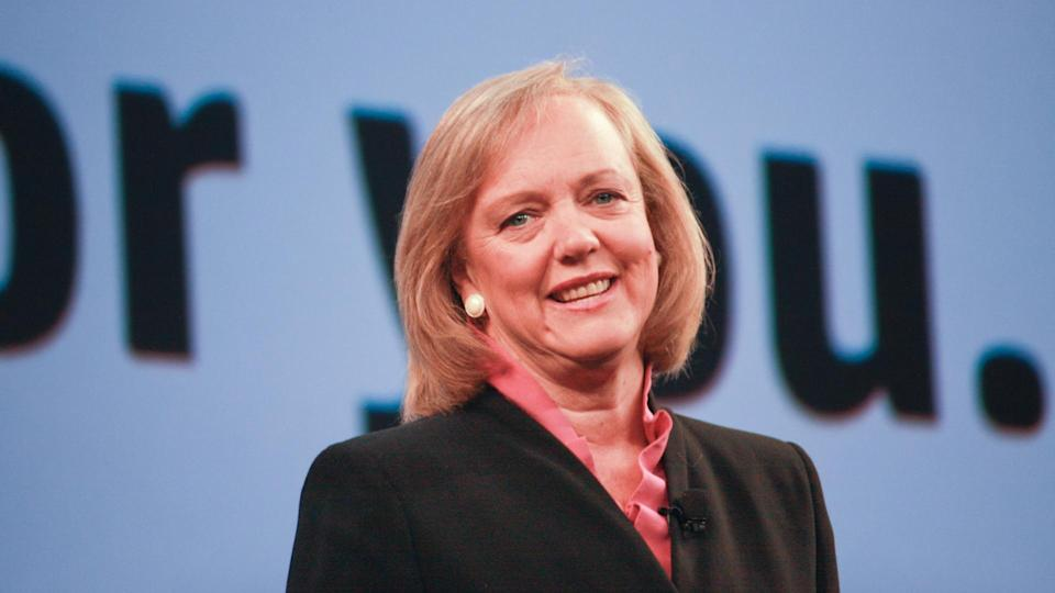 LAS VEGAS, NV - JUNE 5, 2012: HP president and chief executive officer Meg Whitman delivers an address to HP Discover 2012 conference on June 5, 2012 in Las Vegas, NV.