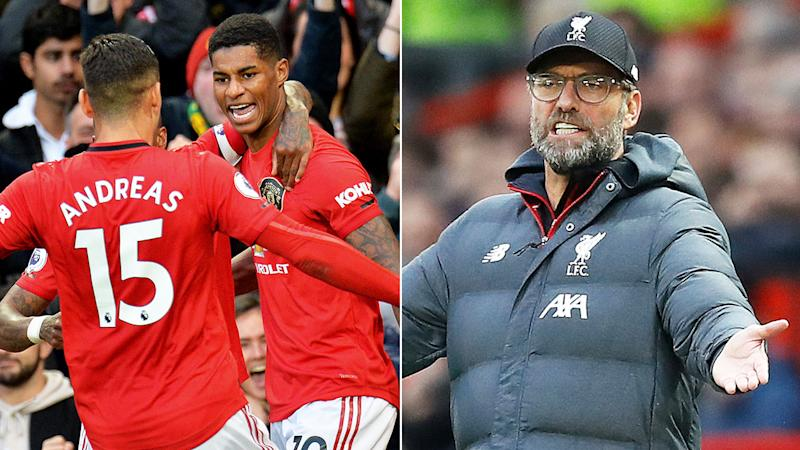 Jurgen Klopp insists Rashford's goal for United should not have stood.