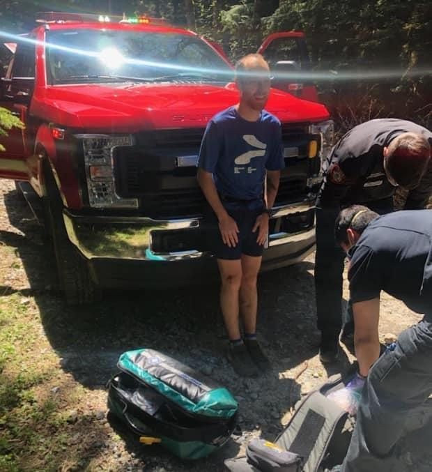 Fred Hawley was swiped at by a bear Friday during a hike on Mount Fromme on Vancouver's North Shore. He suffered a minor scratch and was treated by emergency crews at the scene.
