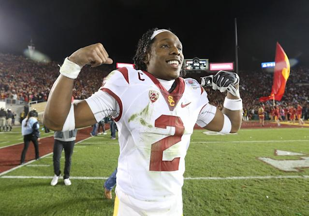 USC's Adoree' Jackson has elite returning ability and has improved as a corner. (AP)