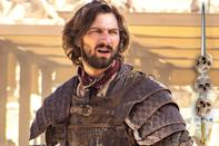 """<p>Daenerys's battle-tested lover has already <a rel=""""nofollow noopener"""" href=""""http://www.bustle.com/articles/19185-what-happened-to-game-of-thrones-daario-naharis-why-the-actor-changed-for-season-4"""" target=""""_blank"""" data-ylk=""""slk:survived being recast"""" class=""""link rapid-noclick-resp"""">survived being recast</a>, so he's proved that he's a hardy soul. That said, he's now heading into Dothraki-occupied lands with a knight of dubious valor at his side. His mettle (and metal) is about to be tested in ways that even an experienced warrior like him might not be ready for.</p><p><i>(Credit: Helen Sloa/HBO)</i></p>"""