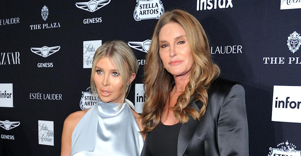 Caitlyn Jenner with her partner Sophia Hutchins. (PA Images)