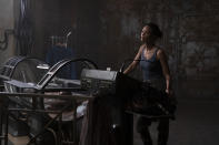 """This image released by Warner Bros. Pictures shows Thandiwe Newton in a scene from """"Reminiscence."""" (Warner Bros. Pictures via AP)"""