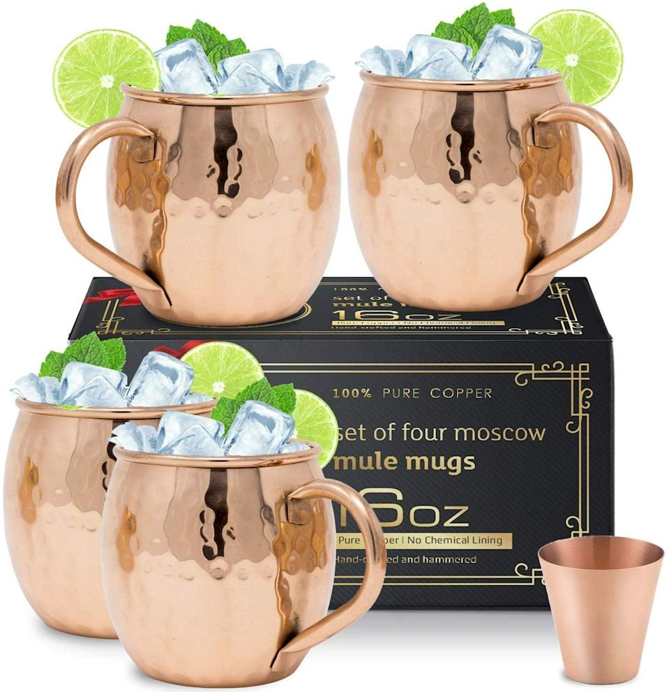 <p>You can make your very own Moscow mules at home with this <span>Moscow Mule Copper Mugs Set</span> ($27).</p>