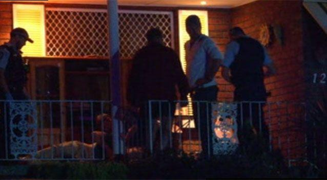 The party in Geelong's north was gatecrashed. Source: 7 News