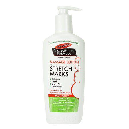 """<p><strong>Palmer's</strong></p><p>amazon.com</p><p><strong>$5.28</strong></p><p><a href=""""http://www.amazon.com/dp/B0010ED5FC/?tag=syn-yahoo-20&ascsubtag=%5Bartid%7C10050.g.28552083%5Bsrc%7Cyahoo-us"""" target=""""_blank"""">Shop Now</a></p><p>Replace your regular moisturizer for one that is rich in hydrating ingredients such as<strong> argan oil and shea butter</strong>, both found in this cult-classic and budget-friendly lotion. """"When you develop a stretch mark, [one of] the best things to do is to vertically massage the stretch mark,"""" says Dr. Shah.  </p>"""
