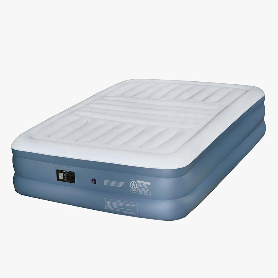 """<p><strong>Beautyrest</strong></p><p>walmart.com</p><p><strong>$91.87</strong></p><p><a href=""""https://go.redirectingat.com?id=74968X1596630&url=https%3A%2F%2Fwww.walmart.com%2Fip%2F35991647&sref=https%3A%2F%2Fwww.bestproducts.com%2Fhome%2Fg32959421%2Fbedding-awards%2F"""" rel=""""nofollow noopener"""" target=""""_blank"""" data-ylk=""""slk:Shop Now"""" class=""""link rapid-noclick-resp"""">Shop Now</a></p><p>A good air mattress is essential for overnight hosts, frequent travelers, or for anyone who simply needs a spare place to sleep at home if the couch doesn't cut it. The Beautyrest Silver Lumbar Lux is an investment and available in just one bed size, but its construction, easy-to-inflate setup, and intelligent design makes it a justifiable purchase.</p><p>This queen-sized air mattress has a built-in pump, which allows users to turn a dial to inflate or deflate it in minutes. Its middle, horizontal channels have dedicated air pockets that give added lumbar support to counteract the usual sinking in the middle that happens with nearly all traditional air mattresses. </p><p>Plus, it even has edge support, so you don't have to barrel-roll out of bed in the morning.</p>"""