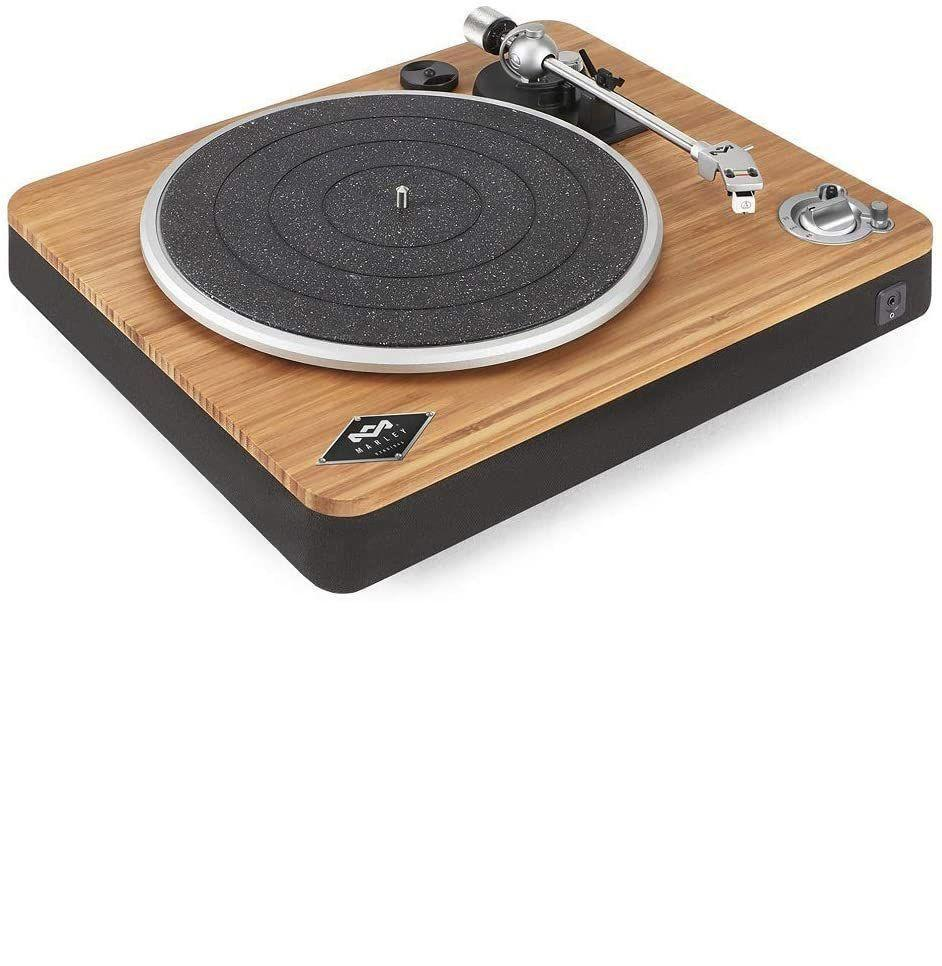 """<p><strong>House of Marley</strong></p><p>bhphotovideo.com</p><p><strong>$199.99</strong></p><p><a href=""""https://go.redirectingat.com?id=74968X1596630&url=https%3A%2F%2Fwww.bhphotovideo.com%2Fc%2Fproduct%2F1283416-REG%2Fhouse_of_marley_em_jt000_sb_stir_it_up_turntable.html%3Fap%3Dy%26smp%3Dy&sref=https%3A%2F%2Fwww.esquire.com%2Flifestyle%2Fg35269584%2Fbest-record-players%2F"""" rel=""""nofollow noopener"""" target=""""_blank"""" data-ylk=""""slk:Buy"""" class=""""link rapid-noclick-resp"""">Buy</a></p><p>This one is an incredibly strong turntable for someone looking for a core piece of equipment for a larger set up. In addition to its main functionality, it is Bluetooth enabled. Also, if that """"Marley"""" name rings a bell for you—yes, it's tied to <em>that</em> Bob Marley.</p><p>This turntable leans heavy into the specs. The built-in pre-amp means that the quality of sound coming out and running through external speakers will immediately be better than a lot of turntables on the market. Pair that with USB port for recording purposes (if you're into your own manipulated DJ sets), and you've leveled up from a simple sound system to some bonafide at-home spinning.</p>"""