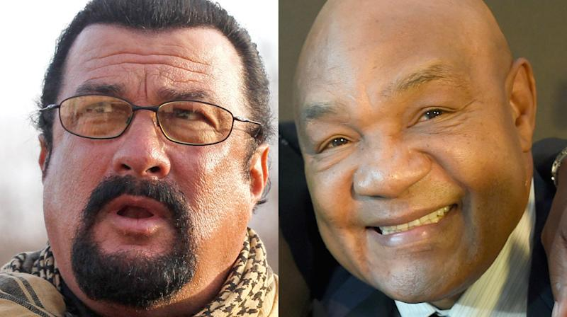 George Foreman Just Challenged Steven Seagal To A No-Holds-Barred Fight