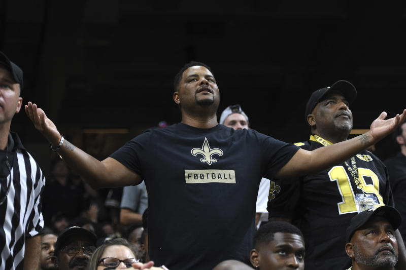 New Orleans Saints fans had another reason to boo officials on Monday night. (AP)