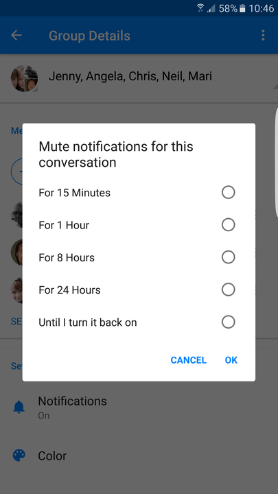 facebook messenger tips and tricks mute