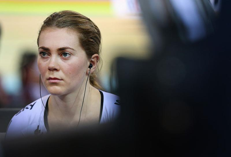 during Day Three of the UCI Track Cycling World Championships at the National Velodrome on February 20, 2015 in Paris, France.
