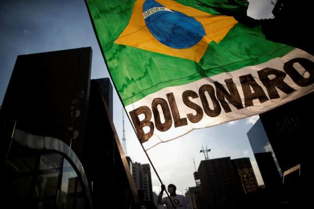 People take part in a demonstration to support Brazil's President Jair Bolsonaro in Sao Paulo