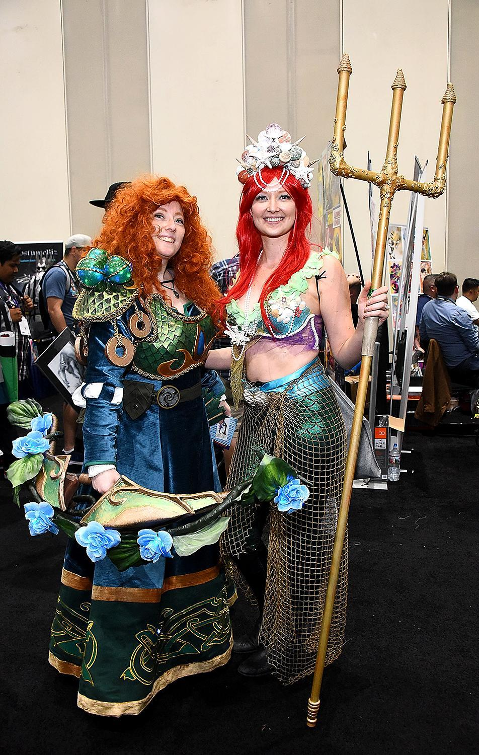 <p>Cosplayers at Comic-Con International on July 21, 2018, in San Diego. (Photo: Araya Diaz/Getty Images) </p>