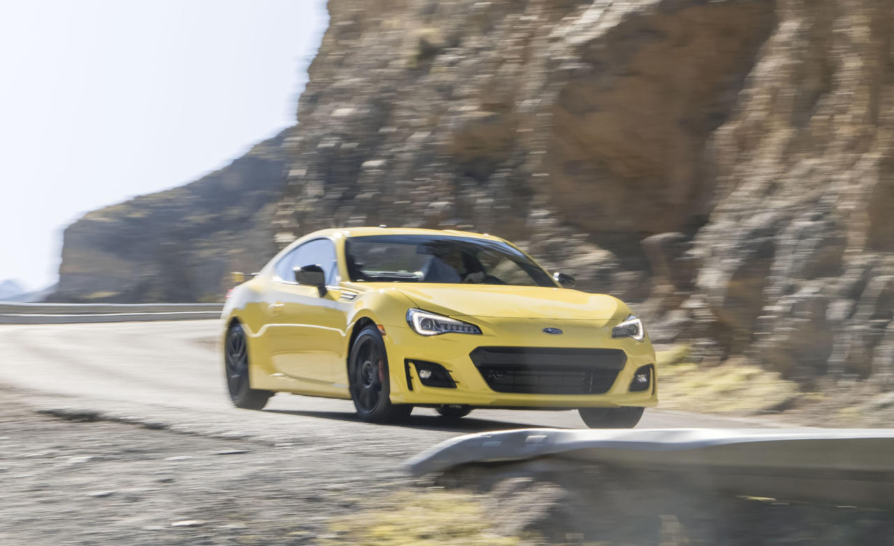 <p><strong>Subaru BRZ</strong><br /><strong>Price as tested:</strong> $27,1117<br /><strong>Highlights:</strong> Responsive handling, first rear-wheel drive sportscar from Subaru.<br /><strong>Lowlights:</strong> Slightly jittery ride, relatively plain cabin, elevated noise level.<br />(Car and Driver) </p>
