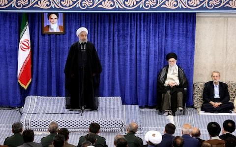 President Hassan Rouhani speaking during a government meeting in the capital Tehran. - Credit: AFP