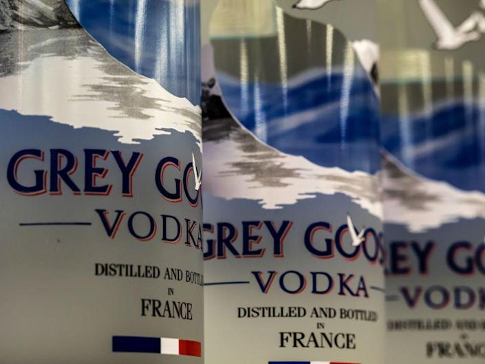 """<p>For years, people have been comparing the vodka from Costco's in-house brand, Kirkland, with Grey Goose—the former has even surpassed the latter in <a href=""""https://www.businessinsider.com/is-costcos-kirkland-vodka-same-as-grey-goose-2019-1"""" rel=""""nofollow noopener"""" target=""""_blank"""" data-ylk=""""slk:blind taste tests"""" class=""""link rapid-noclick-resp"""">blind taste tests</a>. All in all, the warehouse store's vodka label is a well-kept secret to its members and worth stocking up on.</p>"""
