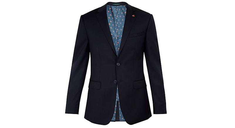 Ted Baker Performance Wool Tailored Suit Jacket