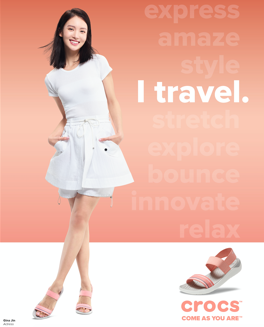 Chinese actress, dancer and model Gina Jin wears the LiteRide Sandal.