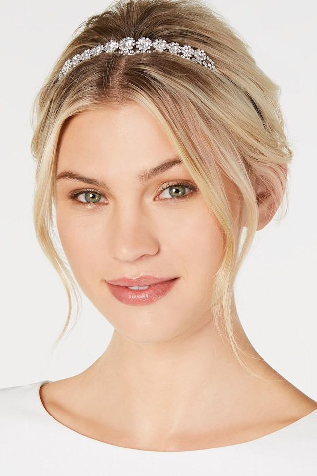 <p>Add a bit of glam to your hair with a crystal headband to take this face-framing style to the next level.</p>