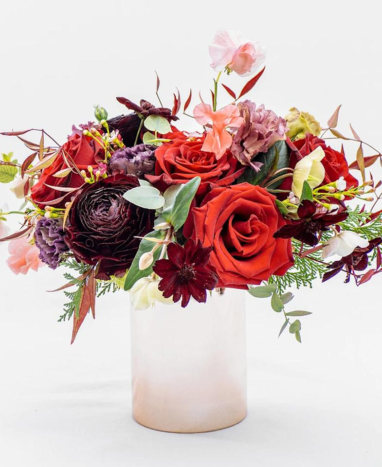 """The kind of bouquet you gift when you know an Instagram post isn't far behind. Floom creates picture-perfect arrangements—from a dramatic dried-flower bundle to a bunch of vibrant roses, and ships to the U.K., New York City, Los Angeles, San Francisco, Houston, Chicago, Boston, and San Diego. $150, Floom. <a href=""""https://www.floom.com/us/shop/shus-flower-us-new-york/be-my-valentine"""">Get it now!</a>"""