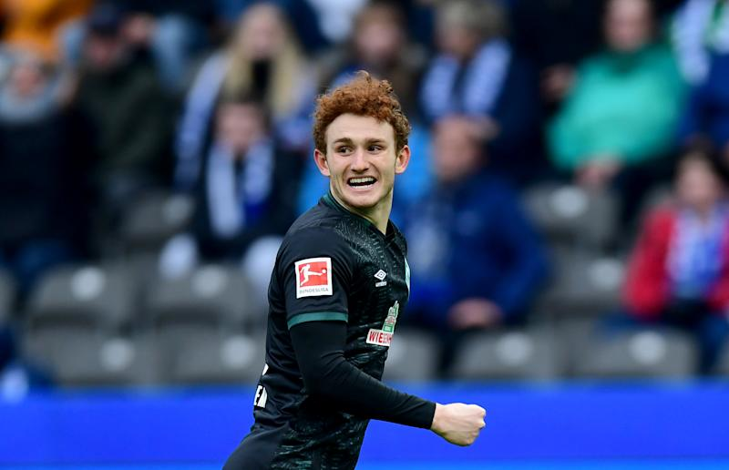 Josh Sargent scored his third goal of the season Saturday in Werder Bremen 2-2 draw with Hoffenheim. (Soeren Stache/Getty)
