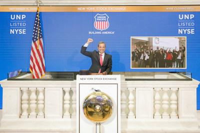 The New York Stock Exchange welcomed Union Pacific Corporation (NYSE: UNP) as it vitually rang The Closing Bell® in celebration of its 150th anniversary of listing. (NYSE Bell Ringer: Chris Taylor, Vice President, NYSE Listings and Services) Photo Credit: NYSE
