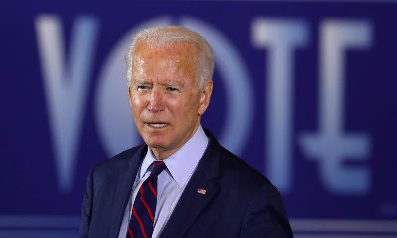 FILE PHOTO: Democratic presidential candidate Joe Biden attends a Voter Mobilization Event in Cincinnati