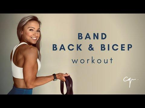 """<p>These exercises target your back (upper and middle) and biceps for the perfect at-home workout. </p><p><strong>Equipment: </strong>Resistance band</p><p><strong>How long? </strong>18 minutes<strong><br></strong></p><p><a href=""""https://www.youtube.com/watch?v=IrH21nd5LEM&ab_channel=CarolineGirvan"""" rel=""""nofollow noopener"""" target=""""_blank"""" data-ylk=""""slk:See the original post on Youtube"""" class=""""link rapid-noclick-resp"""">See the original post on Youtube</a></p>"""