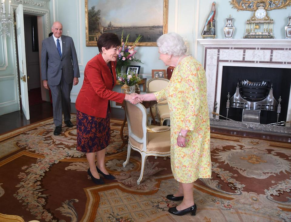 Dame Patsy Reddy with the Queen (Victoria Jones/PA) (PA Archive)
