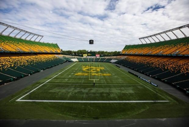 The Edmonton Elks are offering rapid tests at Commonwealth Stadium leading up to its Saturday game against the Winnipeg Blue Bombers.  (Jason Franson/The Canadian Press - image credit)
