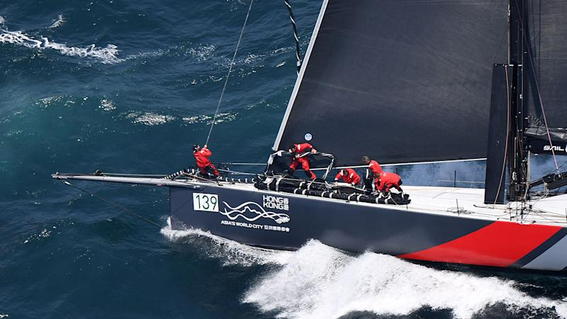 Pictured here, Scallywag was an early frontrunner in the 2019 Sydney to Hobart.