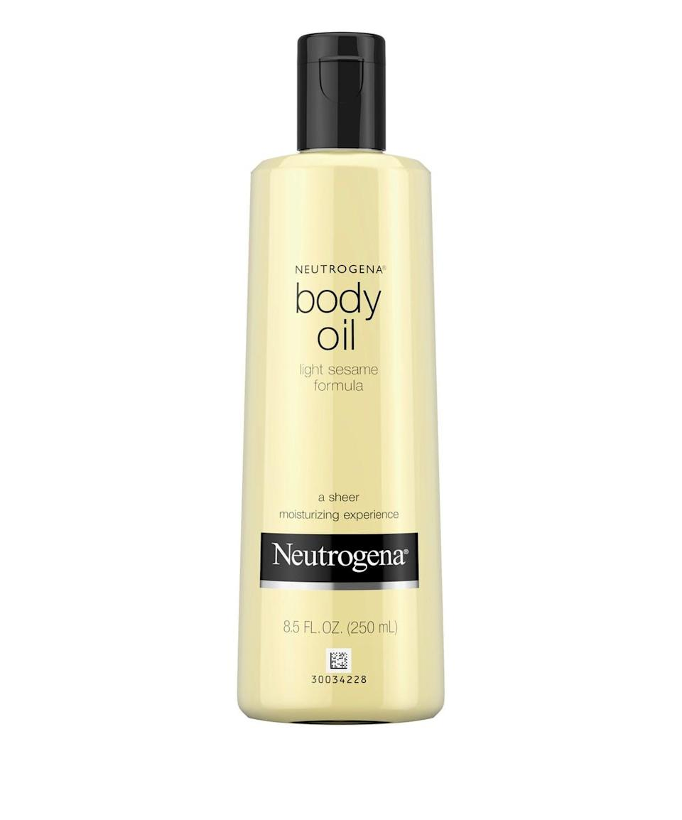 """If you have sensitive skin, you want something hydrating but not too heavy. Marmur suggests the Neutrogena Sesame Oil since it's lightweight but still nourishing. It also has a very subtle scent that shouldn't irritate your skin. $12.47, Amazon. <a href=""""https://www.amazon.com/Neutrogena-Light-Sesame-Formula-Fragrance-Free/dp/B000052YOS/ref=sr_1_1_sspa?crid=3OPJ7RWCV0RP6&keywords=neutrogena+sesame+body+oil&qid=1551381679&s=beauty&sprefix=nuetrogena+se%2Cbeauty%2C121&sr=1-1-spons&psc=1&smid=ASEVS99O6FS73"""" rel=""""nofollow noopener"""" target=""""_blank"""" data-ylk=""""slk:Get it now!"""" class=""""link rapid-noclick-resp"""">Get it now!</a>"""