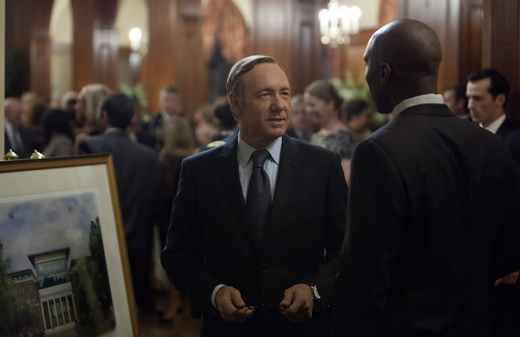 "Kevin Spacey and Mahershala Ali in the ""House of Cards"" Season 1 episode, ""Chapter 8."""