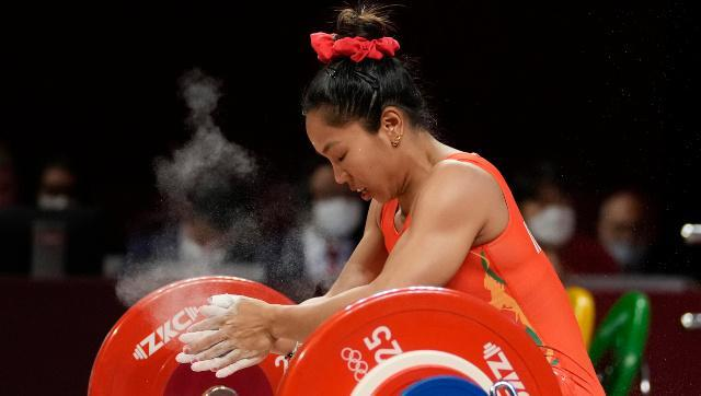 Mirabai Chanu became only the second Indian weightlifter to win an Olympic medal. AP
