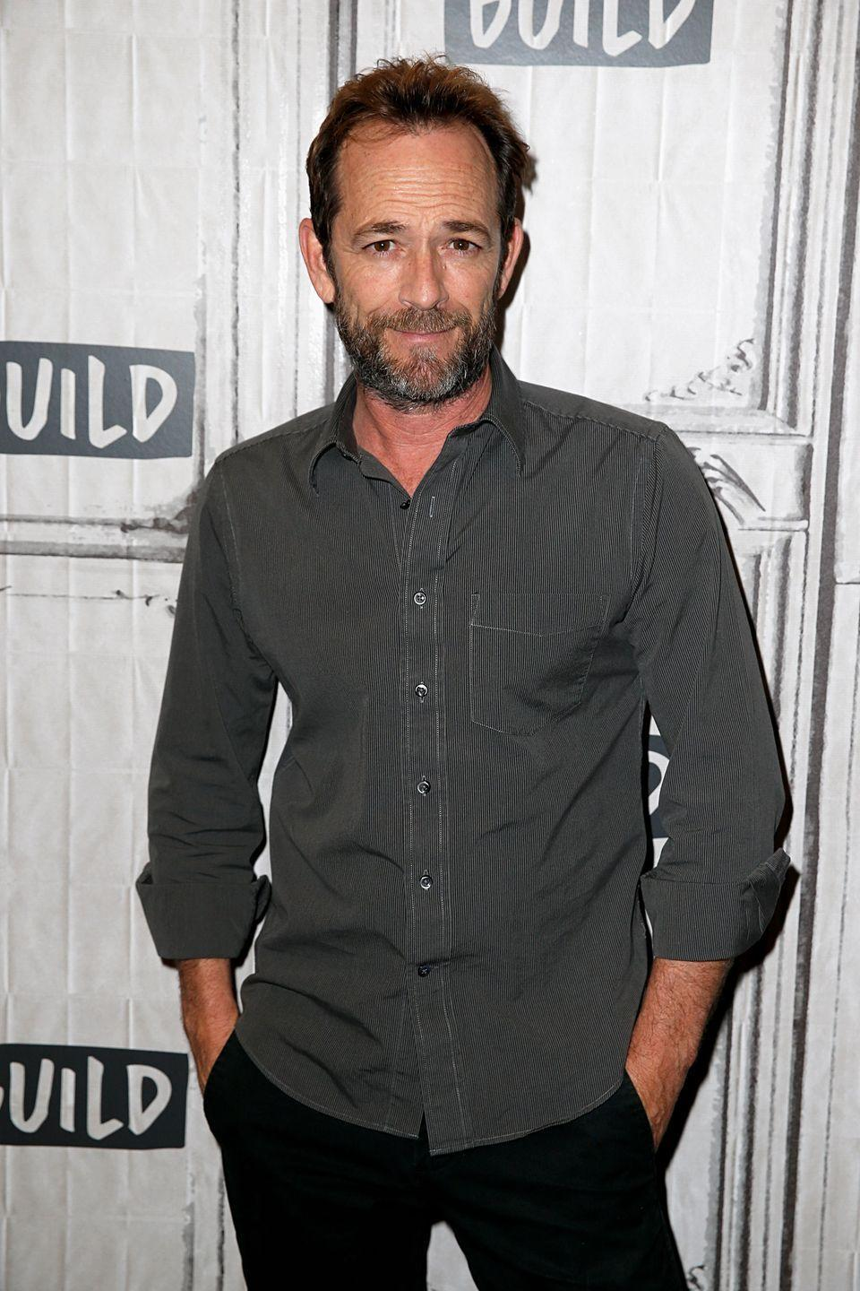 """<p>Luke <a href=""""https://www.cosmopolitan.com/entertainment/celebs/a26627403/luke-perry-death-stroke/"""" rel=""""nofollow noopener"""" target=""""_blank"""" data-ylk=""""slk:tragically passed away"""" class=""""link rapid-noclick-resp"""">tragically passed away</a> in 2019 at the age of 52. At the time, he was starring in <em>Riverdale </em>as Fred Andrews, Archie's dad. </p>"""