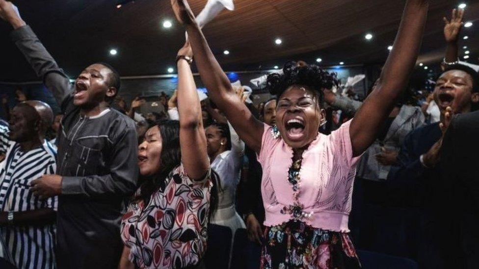 A mega church in Nigeria
