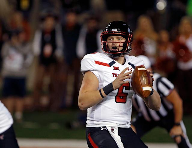 McLane Carter began the 2018 season as Texas Tech's starting quarterback. He will spend the 2019 campaign at Rutgers. (AP Photo/Michael Thomas)