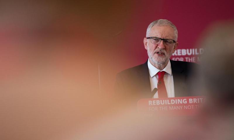 Jeremy Corbyn during a speech at a Labour local government conference, in Coventry, 9 February 2019